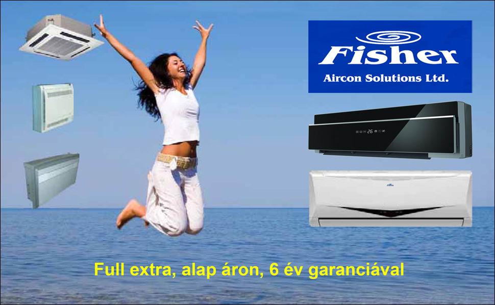 Fisher inverteres klíma full extra, alap áron